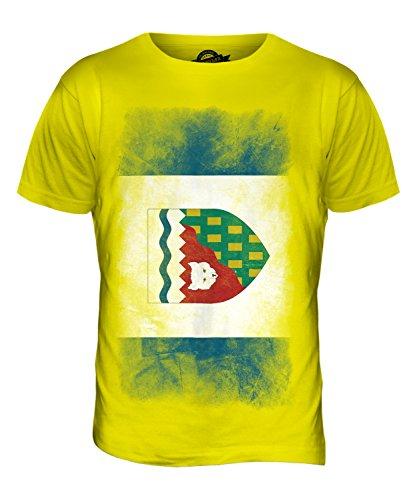 CandyMix Nordwest-Territorien Verblichen Flagge Herren T Shirt Zitronengelb
