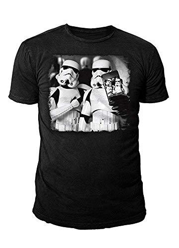 Star Wars - Krieg der Sterne Herren T-Shirt - Trooper Selfie (Schwarz) (S-XL) ()