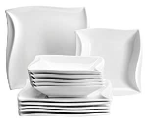 m ser serie orchestra tafelservice 12 teilig porzellan geschirrset f r 6 personen. Black Bedroom Furniture Sets. Home Design Ideas