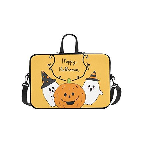 (Karikatur-Nette Halloween-Geist-Kürbis-Aktenkoffer-Laptoptasche-Kurier-Schulter-Arbeitstasche Crossbody-Handtasche für das Geschäftsreisen)