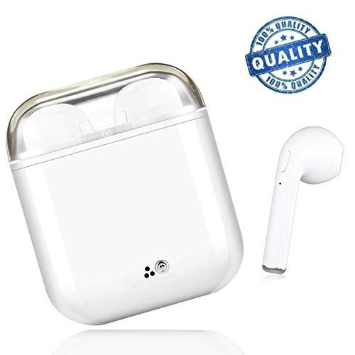 Auriculares Bluetooth, Auriculares Inalámbricos, IPX4 a Prueba de Sudor Auriculares Deportivos, Estéreo Envolvente, para iPhone Samsung y otros Teléfonos Inteligentes Android