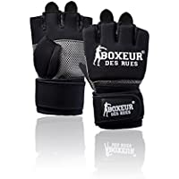 Boxeur Des Rues Serie Fight Activewear Guanti Da Fit-boxing, Unisex – Adulto, Nero, L-XL