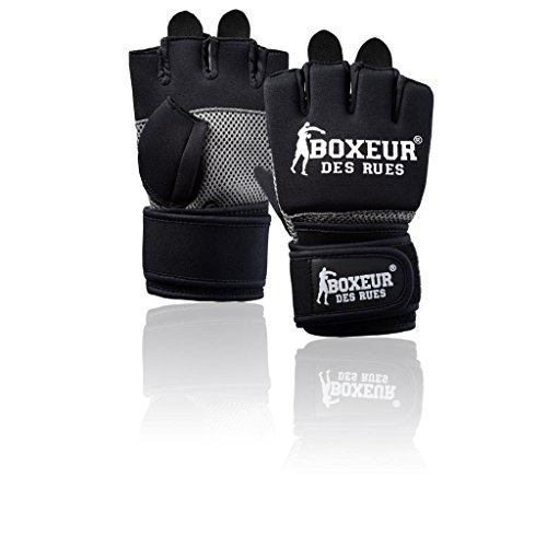 BOXEUR DES RUES Serie Fight Activewear, Guanti da Fit-Boxing Donna, Nero, S/M