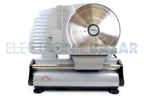 Affettatrice elettrica con lama in acciaio inox 22 cm regolabile