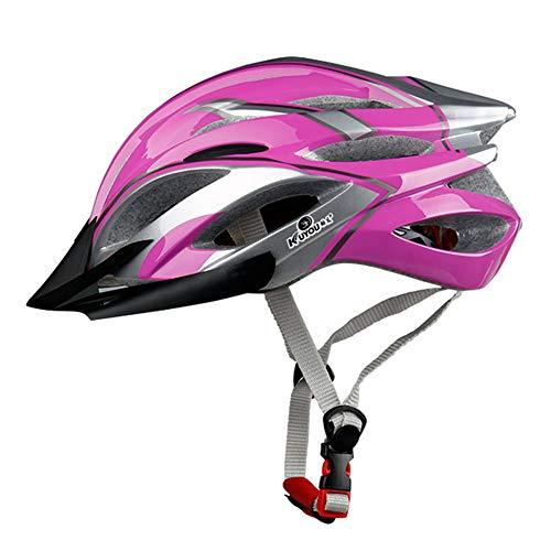 Fahrradhelm(57-61cm),TriLance MTB Helm Erwachsene, Verstellbar Radhelm mit Abnehmbarem Visier und Polsterung, Trekking & City Rennradhelm Schwarz Sporthelme für Fahrradfahren Scooter (D)