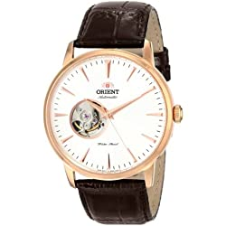 Orient FDB08001W0 41mm Automatic Stainless Steel Case Brown Calfskin Mineral Men's Watch