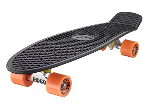 Ridge Skateboard Big Brother Nickel 69 cm Mini Cruiser, schwarz /orange