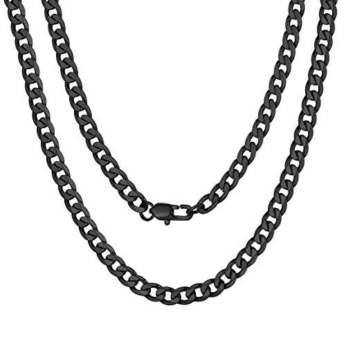 ChainsPro Herren-Halskette Panzerkette 4mm breit, 925er Sterling Silber Schmuck, Männer Halskette Gliederkette Silberkette, Länge 22