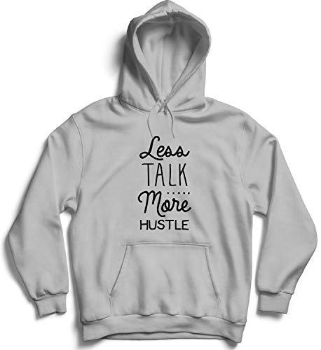 Less Talk More Hustle Work Hard Party Hard Not Be A Fish No Time for Waisting Time Boss Workaholic Hooded Pullover Unisex SM Black Hoodie - Hustle Trees