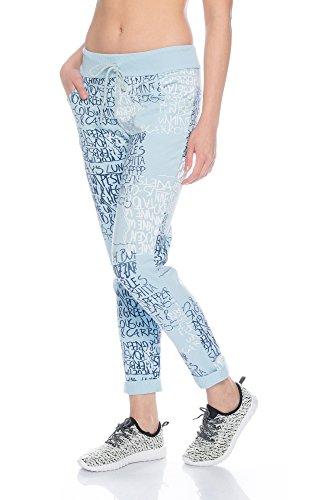 Fashionflash - Pantalon de sport - Pantalon - Femme gris gris clair taille unique bleu clair
