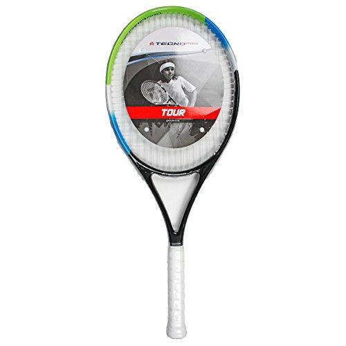 Tecnopro Kinder Tour 26 Tennisschläger, Grün/Blau/Schw, One Size