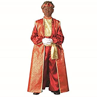 Traje Disfraz DE Rey Mago Baltasar EN Tonos Rojos Talla G (9 a 11 Años)