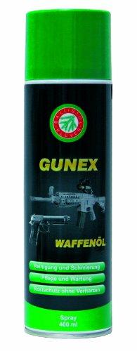 Ballistol Waffenpflege Gunex  Waffenöl Spray, 400 ml, 22250 - Reinigung Waffe Auto