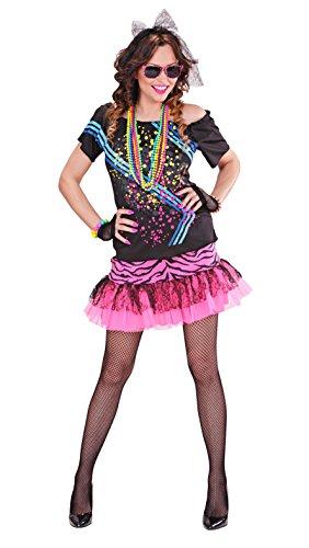 Widmann 98893 - Erwachsenenkostüm 80er Jahre Rock Girl, (Kostüme Girl 80's)