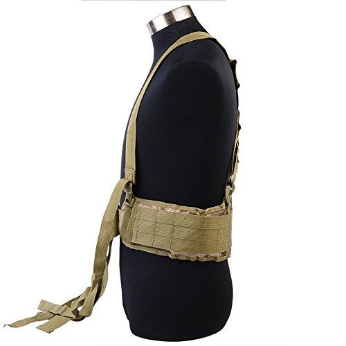 Airsson Duty Belt Sicherheit Taktische Molle Taille gepolsterte Gürtel Airsoft Combat Pflicht Gürtel Pad mit verstellbaren H-förmigen Strap Suspender für Outdoor-Sport Banshee Camo