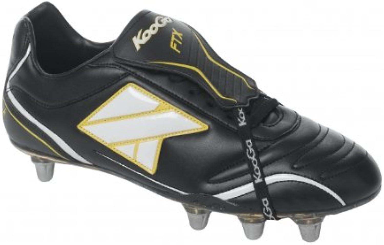 Kooga - Zapatillas de rugby para hombre BLACK / WHITE / YELLOW