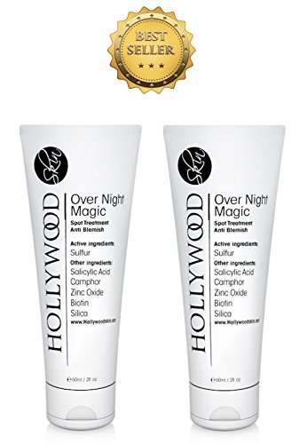 Über Nacht Magic – Mit Salicylsäure und Schwefel,. Spot Behandlung, die 's 4 x stärker als die Regular Akne Behandlungen. (2 Röhren mit 60 ml in jeder – 12 Monate Supply) (Patch-magic Cream)