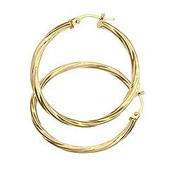 Idea Regalo - Citerna Orecchini a Cerchio da Donna in Oro Giallo 9K