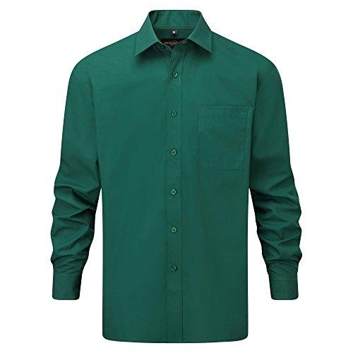 Chemise à manches longues en popeline Russell Collection pour homme Bleu clair
