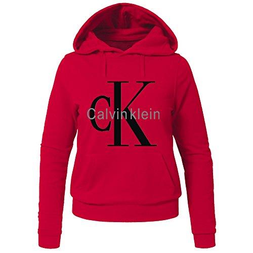 Calvin Klein CK Hoodies -  Felpa con cappuccio  - Donna Red Small