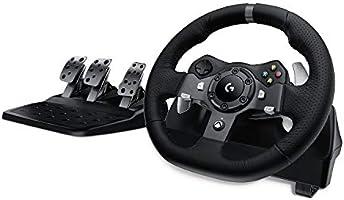 Logitech G920 Driving Force Gaming-racestuur, tweemotor, Force Feedback, 900 graden stuurbereik, lederen stuurwiel,...
