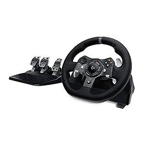 Logitech G920 Driving Force Gaming Rennlenkrad, Zweimotorig Force Feedback, 900° Lenkbereich, Racing Leder-Lenkrad…