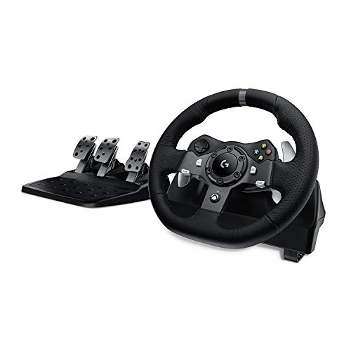 Volante da Corsa e Pedali Logitech G920 Driving Force, per Xbox One, Amp e PC, Spina UK