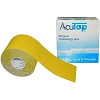 AcuTop Kinesiology Tape für Sport und Medizin in 9 Farben (Gelb) preisvergleich bei billige-tabletten.eu