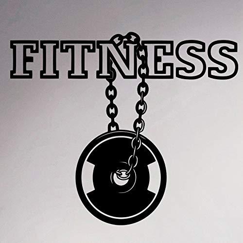 Yyoutop Fitness Center Logo Wand Vinyl Aufkleber Gym Emblem Aufkleber Sport Innen Wohnzimmer Bodybuilding Wandmalereien Reinigungsmittel Design 1 30 cm x 36 cm -