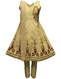GCS3316 Burlywood y Traje Churidar de rosa caliente chica Indian Bollywood Fancy Dress