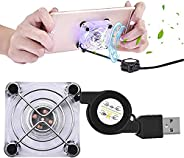 Mobile Phone Cooling Fan, DELFINO Portable Gaming Universal Mobile Phone with 4 Suction Cups Cooling Master fo