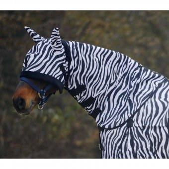 Waldhausen Fliegenhalsdecke Zebra, Pony, schwarz/weiß, Pony