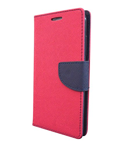 COVERNEW Mercury Flip Cover for Samsung Galaxy ON 8::Samsung Galaxy ON8 - Pink::Blue