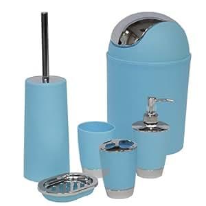 Sq professional ltd set di accessori da bagno blu casa e cucina - Amazon accessori bagno ...