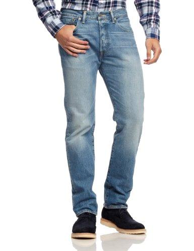 levis-mens-straight-leg-jeans-blue-light-broken-in-w28-l32-blue-pistolero-28w-x-32l