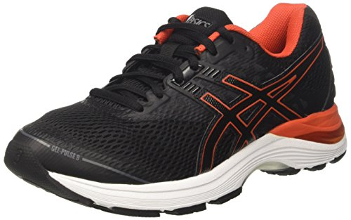 Asics Gel-Pulse 9, Scarpe da Running Uomo, Nero (Black/Cherry Tomato/Carbon), 43.5 EU