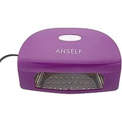 Anself 220-240V 9W Led Secador de esmaltes supermanente para uñas lámpara automático de clavos salón para Gel UV de máquina manicura pedicura