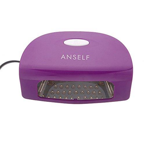 Anself 220-240V 9W Led Secador de esmaltes supermanente para uñas lámpara automático de clavos salón para Gel UV de máquina...