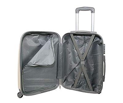 JustGlam - bagages à main Ormi 6802 Trolley ABS polycarbonate 4 roues motrices approprié pour vols low cost