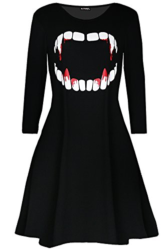 Fashion Star Damen Skater Kleid * XX-Large Gr. 48, Vampire Horror (Dress Vampire)