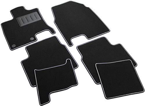 Il Tappeto Auto SPRINT03303 Tapis antidérapants en moquette noire, bord bicolore, protège-talon renforcé en caoutchouc