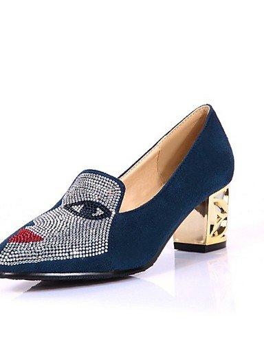 WSS 2016 Chaussures Femme-Bureau & Travail / Habillé / Décontracté-Noir / Bleu / Rouge / Amande-Gros Talon-Talons / Bout Pointu-Talons-Polyuréthane red-us7.5 / eu38 / uk5.5 / cn38