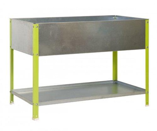ontra GmbH Hochbeet Pflanztisch 85x90x40 100l verzinkt/grün Größe 85x120x60cm