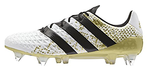 adidas Ace 16.1 Sg, Entraînement de football homme Multicolore - Multicolore (Ftwwht/Cblack/Goldmt)