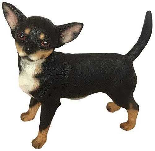 Schwarz und Hellbraun stehend Chihuahua Hund Ornament Geschenkverpackung von Leonardo -