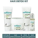 mCaffeine Hair Detox Kit | Hair Fall Control, Strengthening, Frizz Free Hair | Shampoo, Hair Mask, Conditioner, Hair Oil | All Hair | SLS & Silicone Free