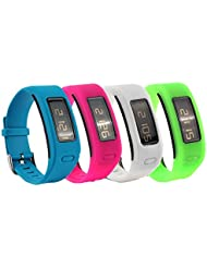 fit-power de bracelets de rechange en silicone pour Garmin vivofit avec fermoir en métal (sans Tracker, bandes élastiques de rechange seulement)