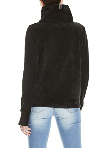 Bench Damen Sweatshirt Her. Overhead Fleece Funnel Schwarz (Black Beauty Bk11179)