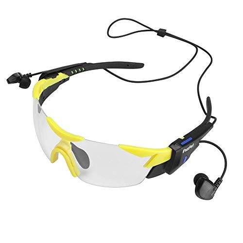 Yanten Radfahren Sonnenbrille Bluetooth Kopfhörer Outdoor Smart Brille Ohrhörer (Weiß)