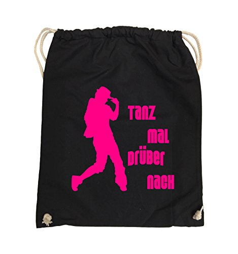 Borse Da Commedia - Danza About - Figure - Turn Bag - 37x46cm - Colore: Nero / Rosa Nero / Rosa